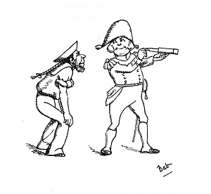 the project gutenberg ebook of the bab ballads by w s gilbert Potato Gun Accident illustration cartoon