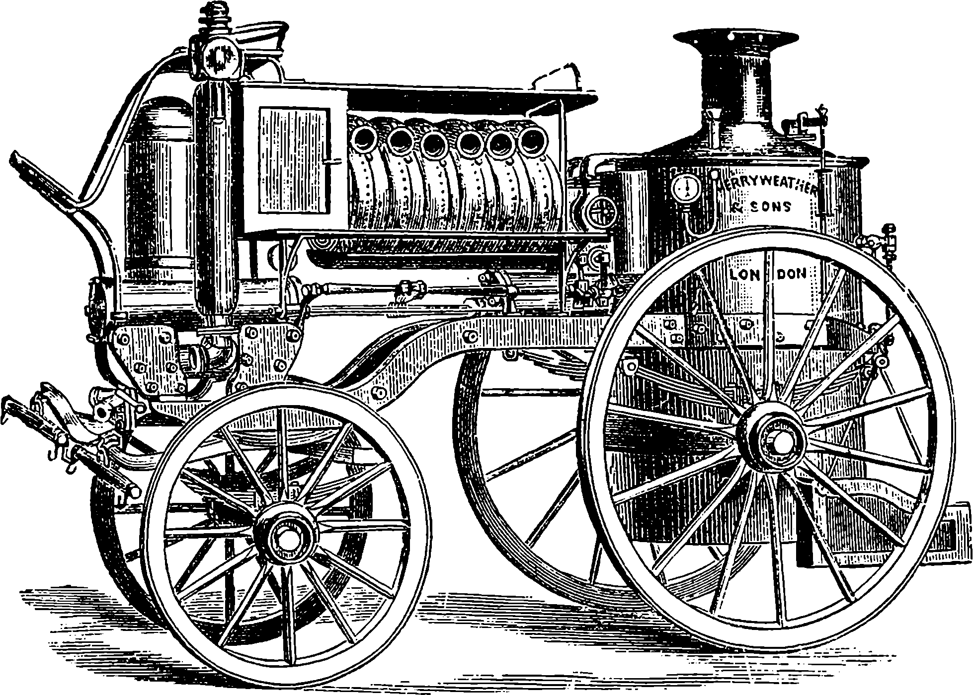 the project gutenberg ebook of discoveries and inventions of the 105 Howitzer Crew fig 14 merryweather s steam fire engine