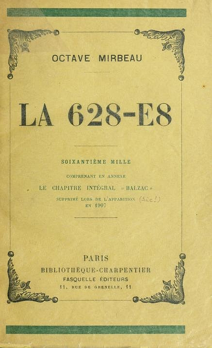 The Project Gutenberg Ebook Of La 628 E8 By Octave Mirbeau