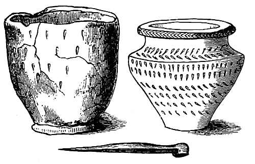 31 Vases And Bronze Pin Found In Arbor Low