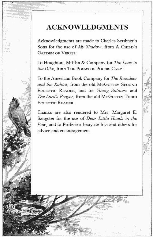 The project gutenberg ebook of songs for the little ones at home by acknowledgements fandeluxe Choice Image