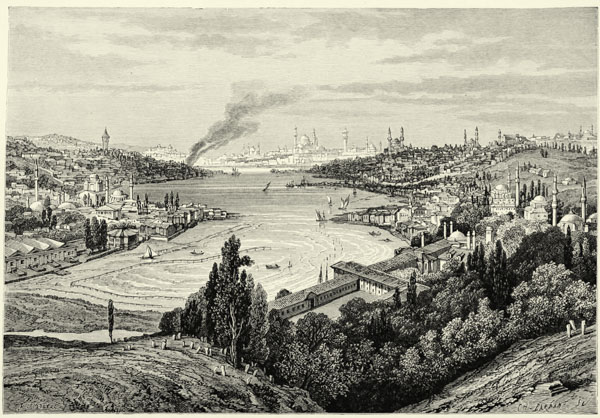 The earth and its inhabitants vol i europe by lise reclus a constantinople and the golden horn from the heights of eyub fandeluxe Choice Image