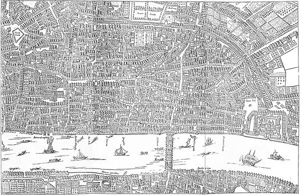 The project gutenberg ebook of london ancient and moodern from the the centre of london in 1658 reproduced from newcourts map fandeluxe Gallery