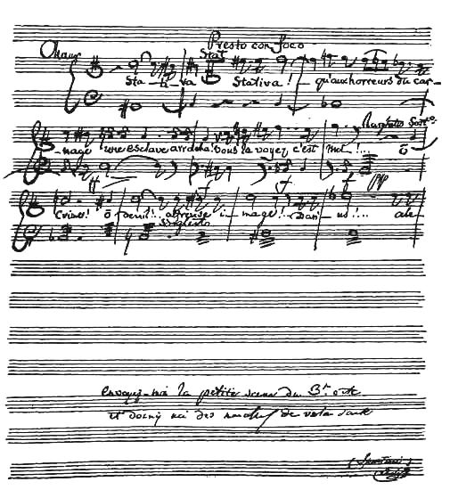 The project gutenberg ebook of famovs composers and their works fac simile autograph letter and musical manuscript written by spontini fandeluxe Gallery