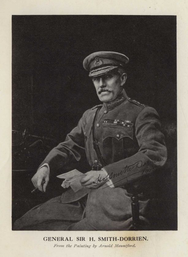 GENERAL SIR H. SMITH-DORRIEN. From the Painting by Arnold Mountford.