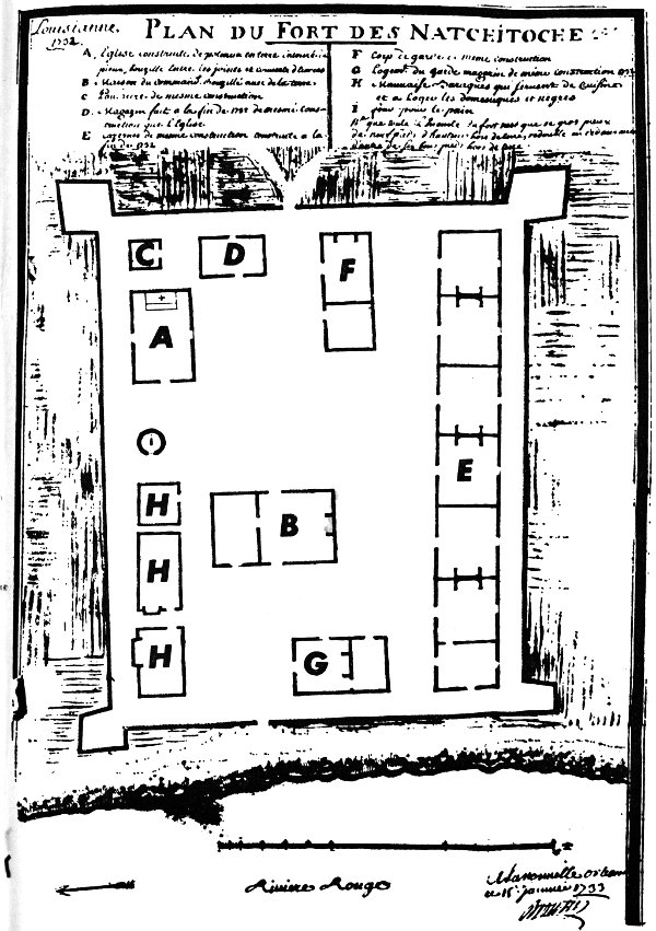 PLAN OF FORT NATCHITOCHES