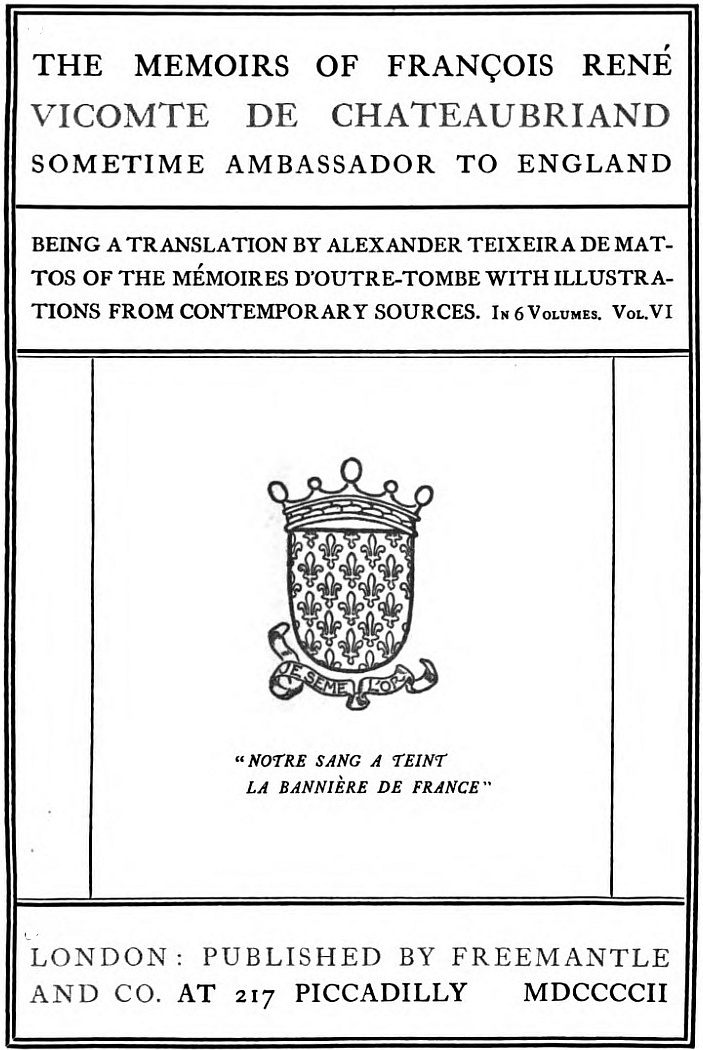 The Project Gutenberg Ebook Of The Memoirs Of Franois Ren De