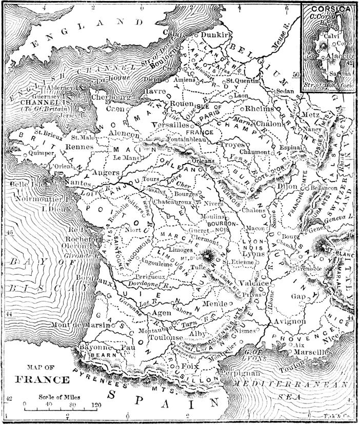 The project gutenberg ebook of the chautauquan vol iv march 1884 map of france fandeluxe Images