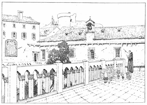 The project gutenberg ebook of the republic of ragusa by luigi terrace of the franciscan monastery with the torre menze in the background fandeluxe Image collections