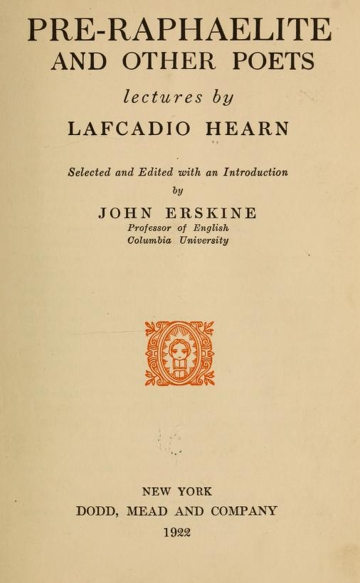 The Project Gutenberg Ebook Of Pre Raphaelite And Other Poets By