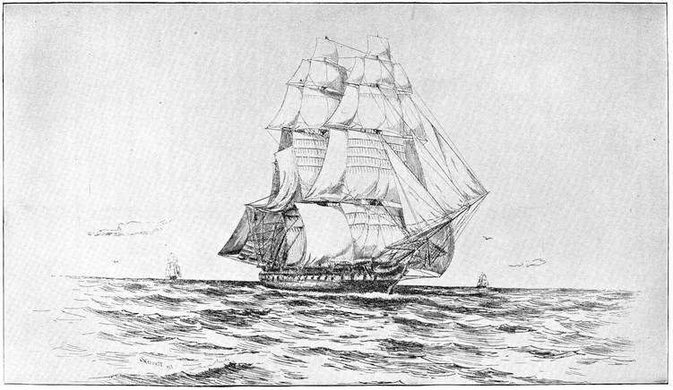 The project gutenberg ebook of triumphs and wonders of the 19th plate i constitution 1812 under sail fandeluxe Image collections