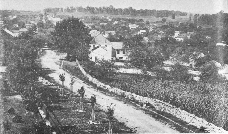 Antietam national battlefield maryland by frederick tilberg a sharpsburg shortly after the battle of antietam taken from crest of sharpsburg ridge looking west down boonsboro pike toward potomac river fandeluxe Choice Image