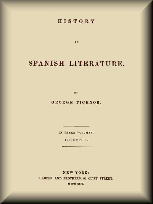 604821655b540 History of Spanish Literature (2 of 3)