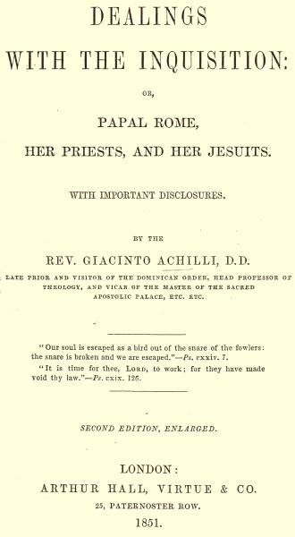 The Project Gutenberg Ebook Of Dealings With The Inquisition By