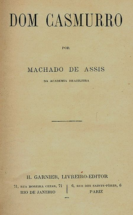 The Project Gutenberg Ebook Of Dom Casmurro By Machado De Assis