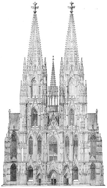 The project gutenberg ebook of a history of architecture in all elevation of faade of cologne cathedral fandeluxe Image collections