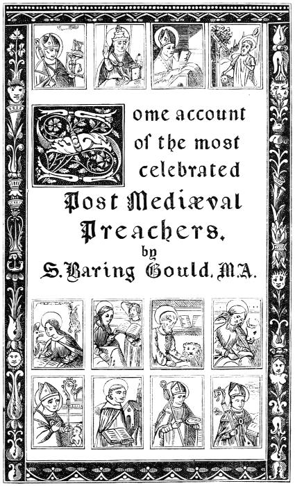 The project gutenberg ebook of post medival preachers by sabine image of the illustrated title page mentioned in the preface fandeluxe Choice Image