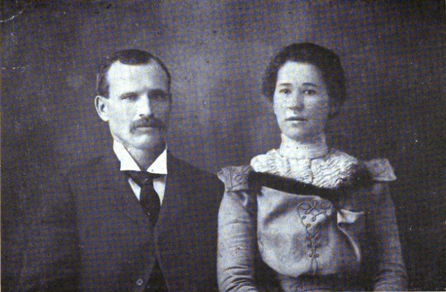 Con and Claudia Price at the time of their Marriage, December 26, 1899