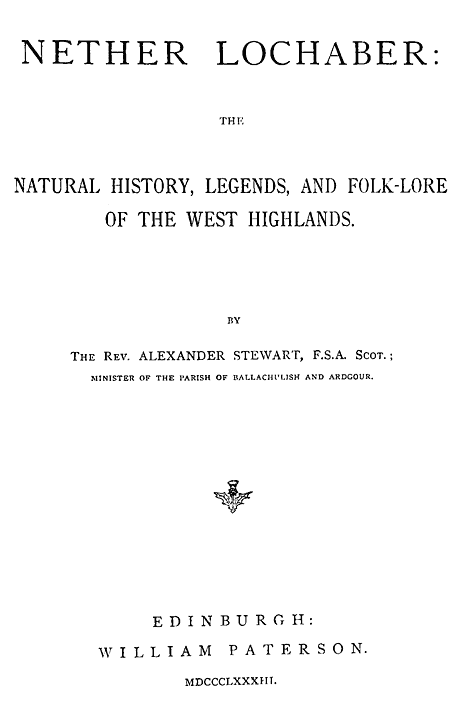 Essay On My Family In English Original Title Page From Thesis To Essay Writing also My Hobby Essay In English Nether Lochaber The Natural History Legends And Folklore Of The  Environmental Science Essay
