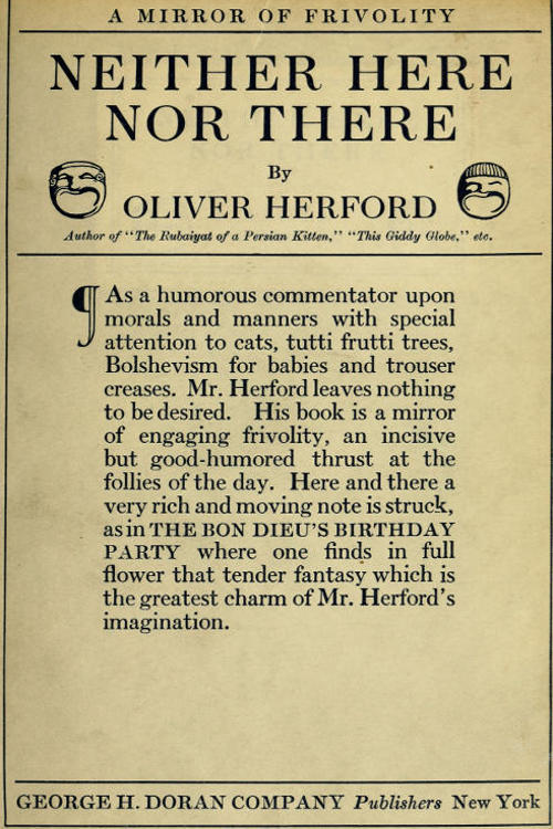 The project gutenberg ebook of neither here nor there by oliver cover image fandeluxe Image collections