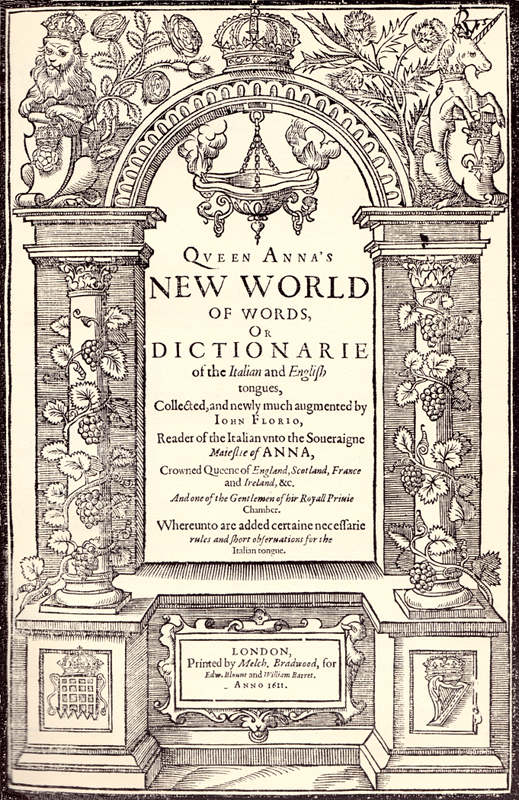 Queen Annas New World Of Words By John Florio