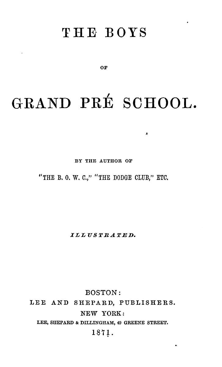 The Boys Of Grand Pr School By Prof James De Mille Topic Spur From Ceiling Rose 2 Bulb Loft Lighting Switch Prob 0009