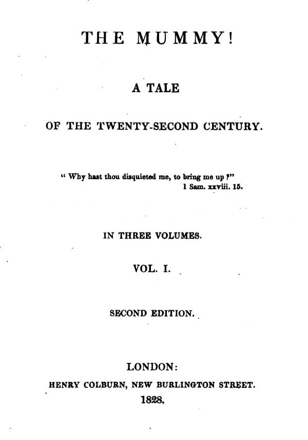 The Project Gutenberg Ebook Of The Mummy By Jane Webb Mrs Loudon