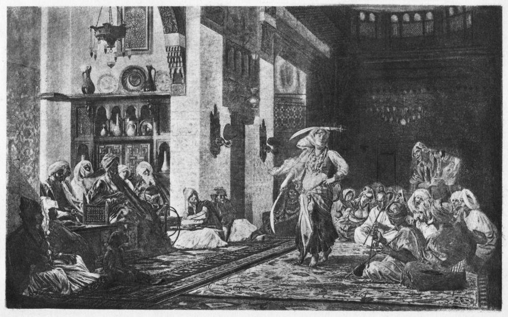 d5d87ef7322 Sword Dance in a Café Photogravure from the original painting by Jean Léon  Gérôme