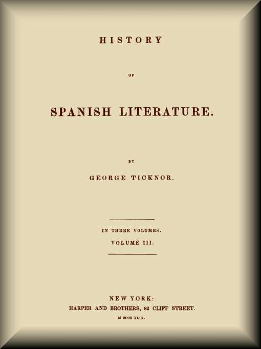 History of Spanish Literature (3 of 3) edd585ee8764