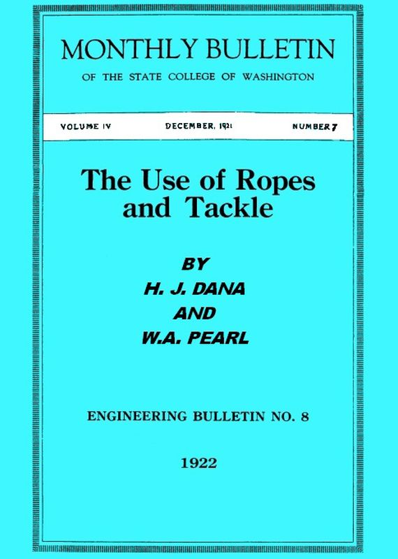 The Project Gutenberg eBook of The Use of Ropes and Tackle, by H. J. ...