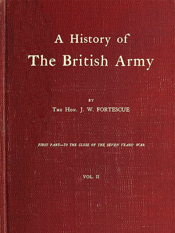 The project gutenberg ebook of a history of the british army vol original cover fandeluxe Images