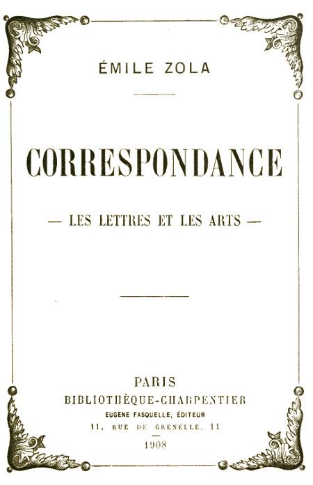 efaabcd81608 The Project Gutenberg eBook of Correspondance--Les lettres et les ...