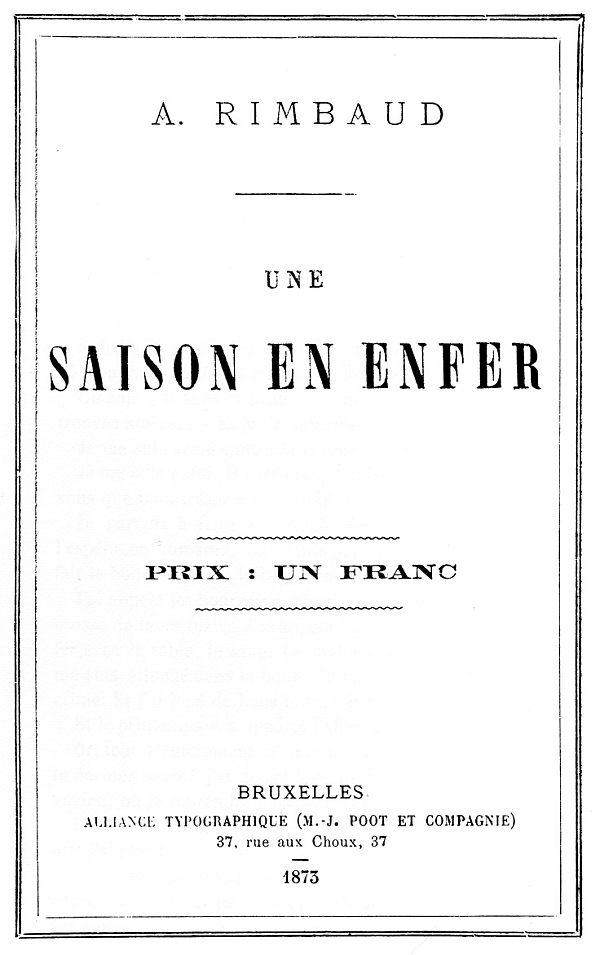 The Project Gutenberg Ebook Of Une Saison En Enfer By