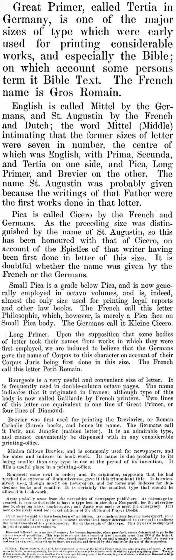 The project gutenberg ebook of the american printer a manual of image of the different type sizes fandeluxe Gallery