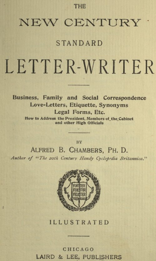 The project gutenberg ebook of the new century standard letter titlepage fandeluxe Images