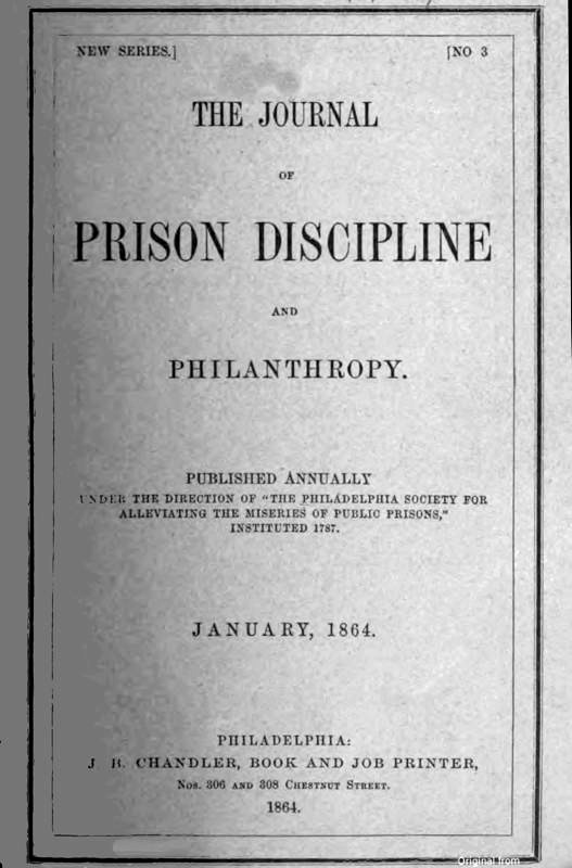 The Journal Of Prison Discipline And Philanthropy By Various