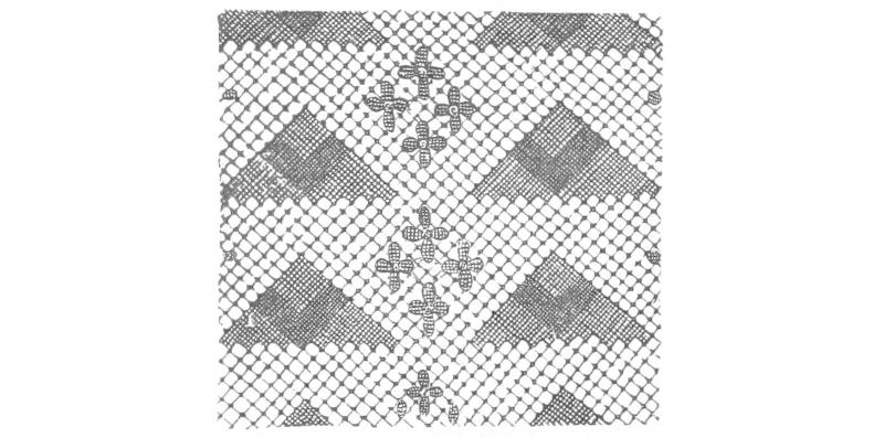 ca3e371c817 Lace with crosses and triangles ...