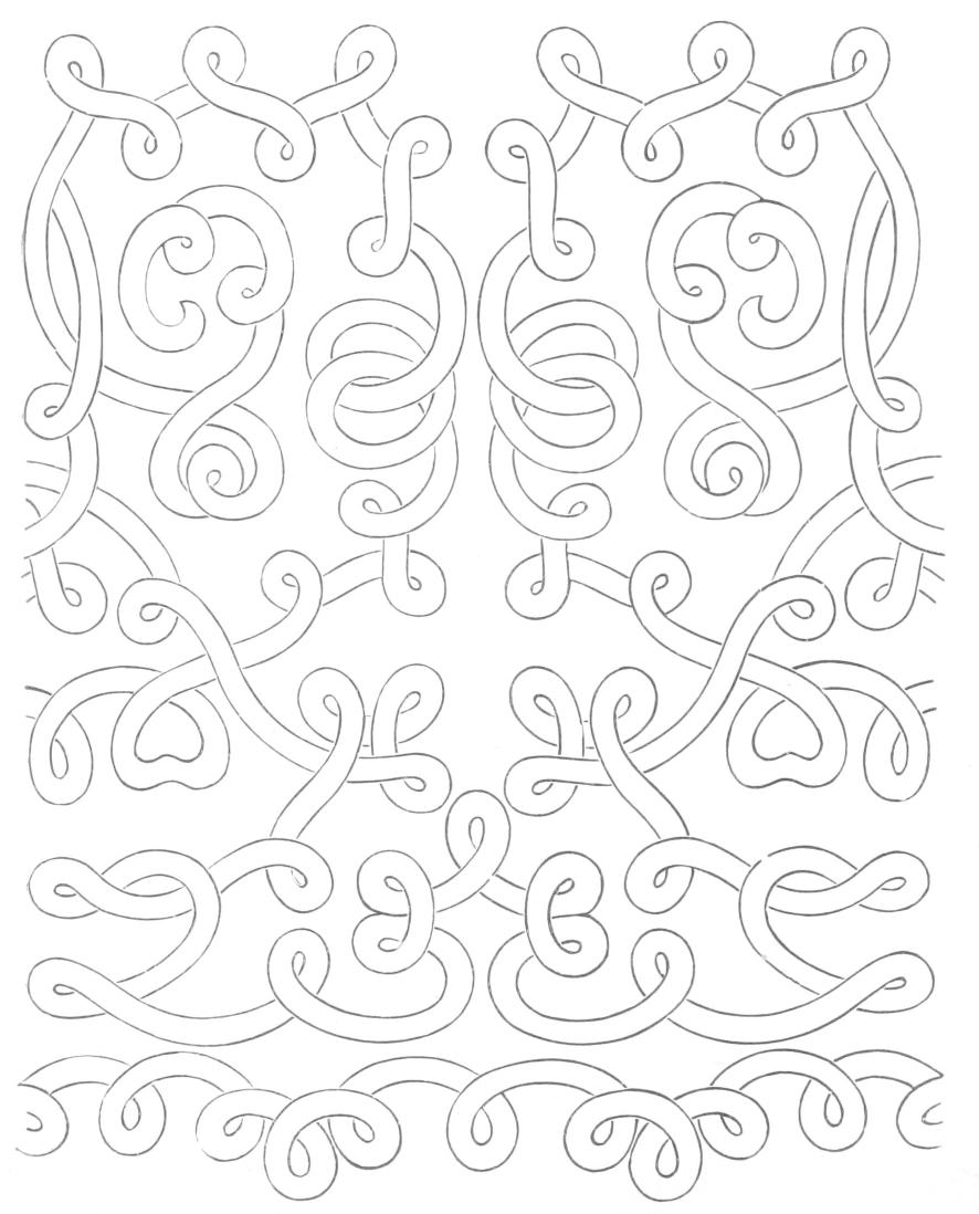 Lace pattern - swirly designs on parchment af55906ded