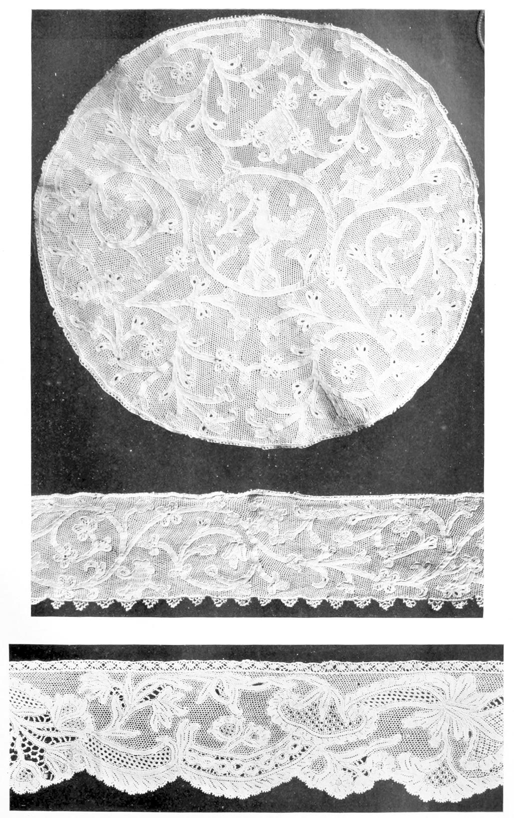 Circular cover and two lace borders adb1609e87b