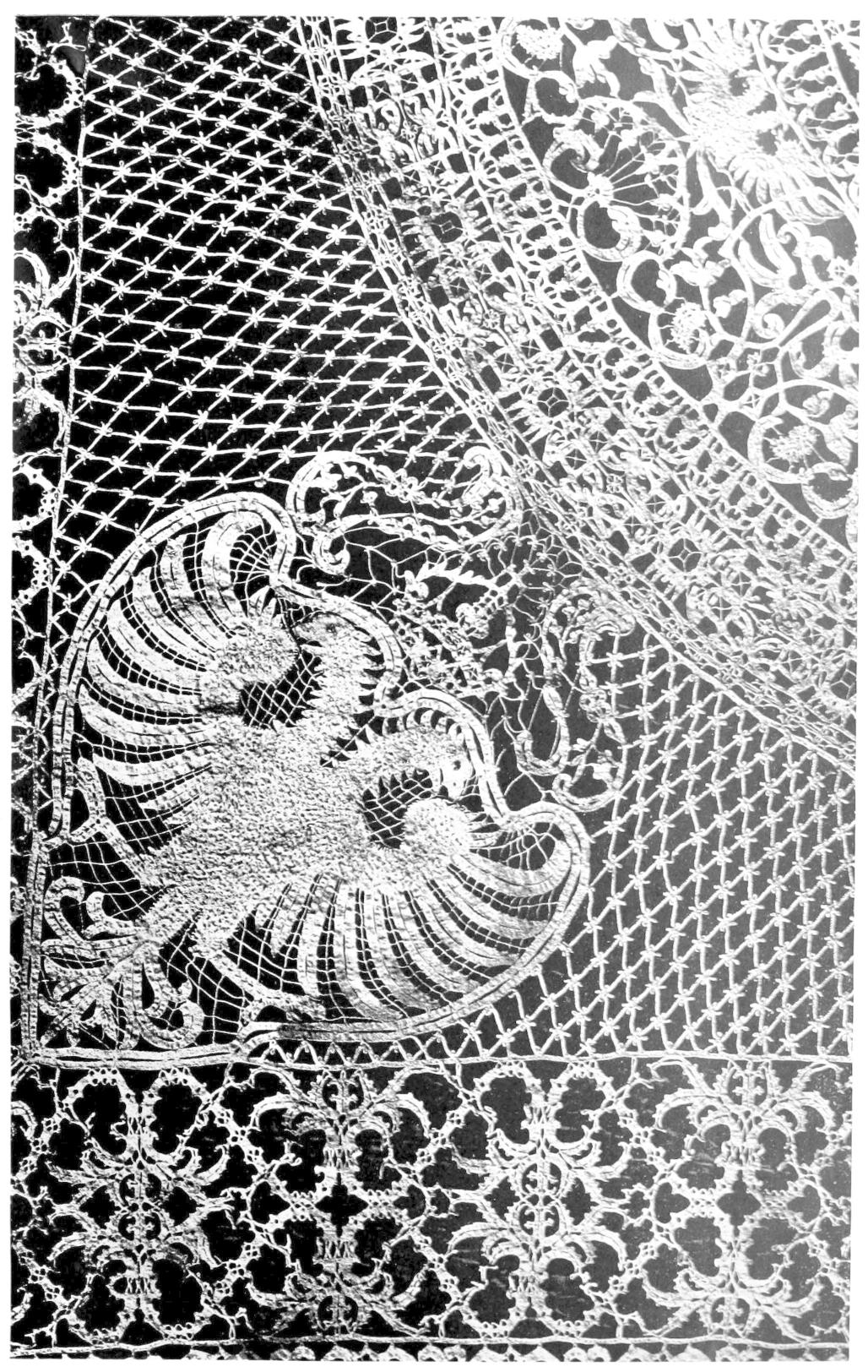 Lace featuring double-headed eagle motif