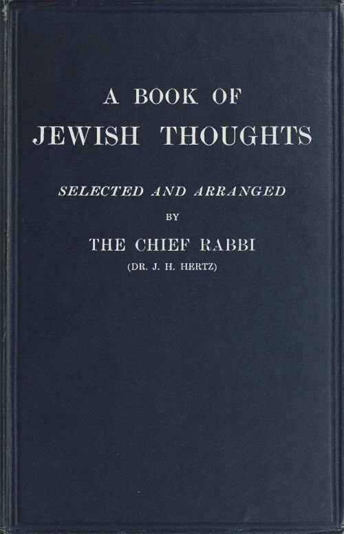 The Project Gutenberg eBook of A Book of Jewish Thoughts by