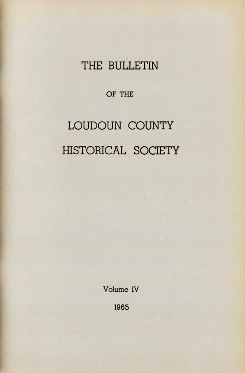 Stupendous The Bulletin Of The Loudoun County Historical Society A Gmtry Best Dining Table And Chair Ideas Images Gmtryco