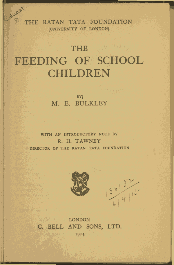 The Project Gutenberg eBook of The Feeding of School