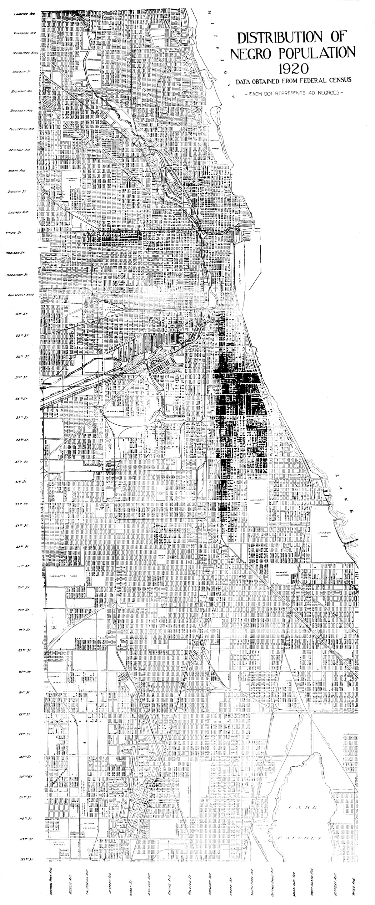 The Project Gutenberg Ebook Of Negro In Chicago By Interior Ford Truck Wiring Diagrams Besides Lionel Switch Track Distribution Population 1920 Data Obtained From Federal Census