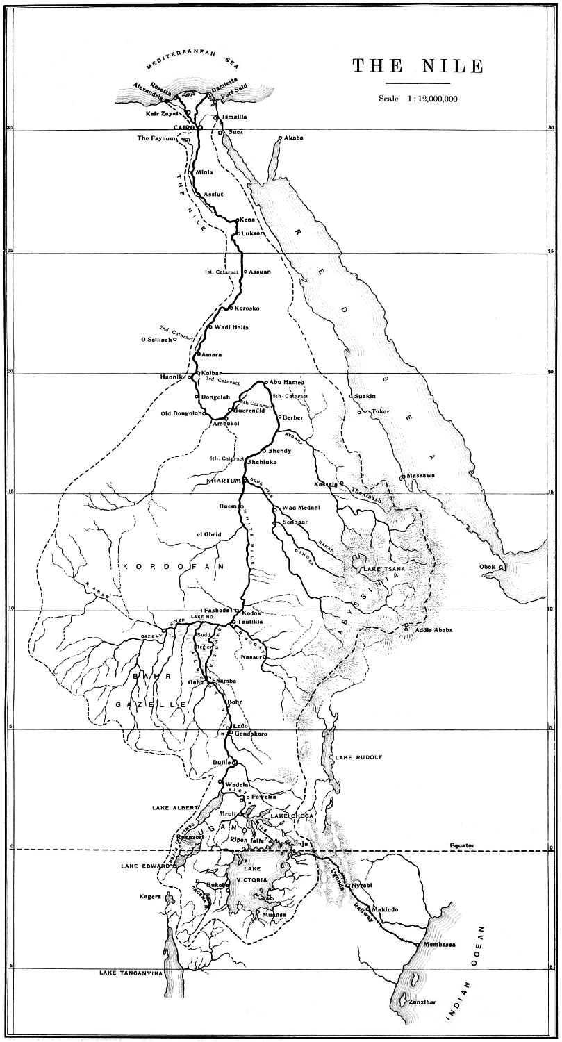 the project gutenberg ebook of the nile in 1904 by william willcocks Nile River in Africa larger map 240 kb the nile