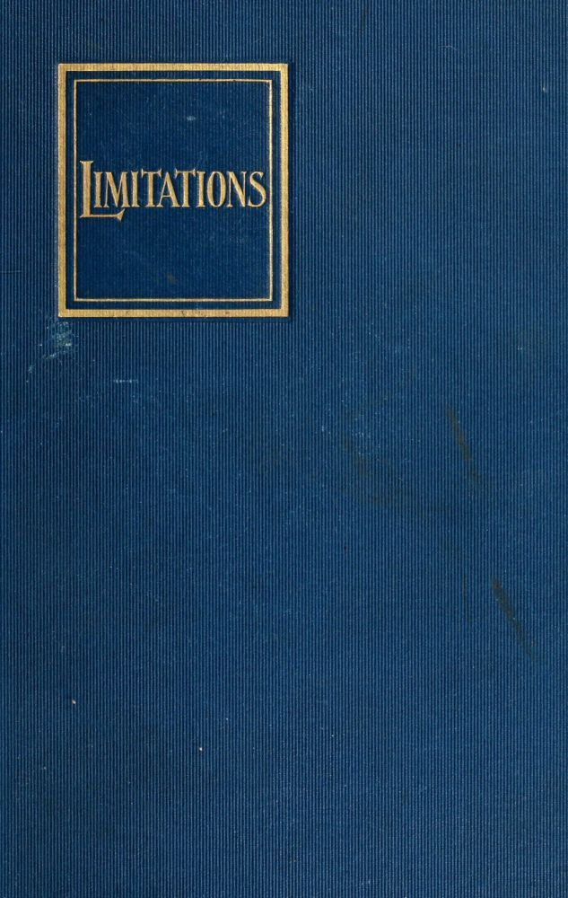 The Project Gutenberg eBook of Limitations, by E. F. Benson.