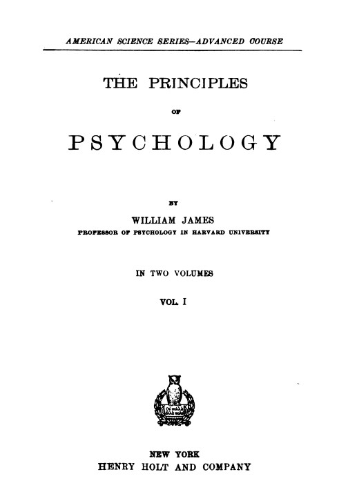 The Project Gutenberg eBook of The Principles of Psychology