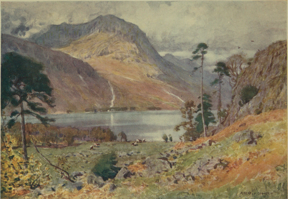 Buttermere Lake District Canvas Print Crafted In London Quality Assured