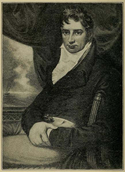 Oil painting robert fulton Waite young man portrait canvas Captain Benjamin L