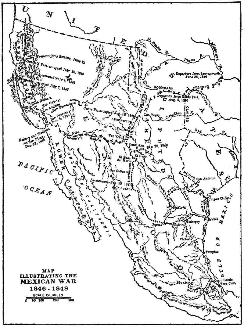 the project gutenberg ebook of decisive battles of america by George Bush House Crawford map illustrating the mexican war 1846 1848